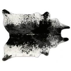 Grey Freckles Cowhide Rug